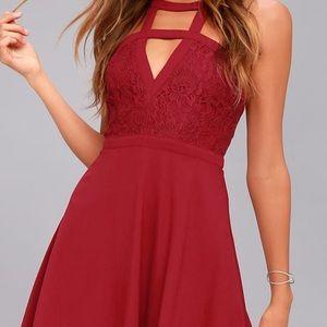 Deep Red Dress Lulus